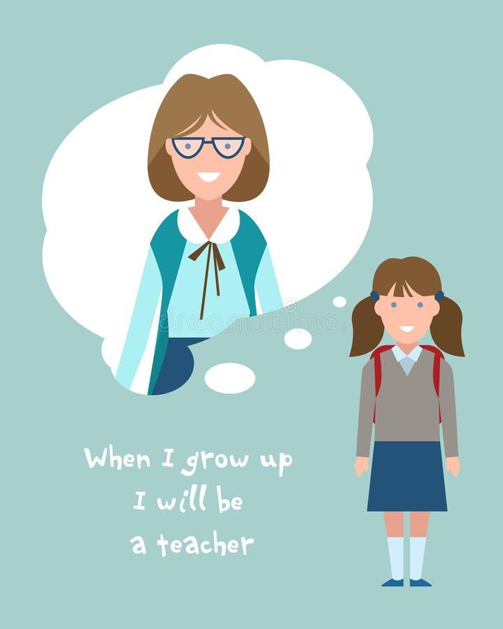 Sia un insegnante royalty illustrazione gratis