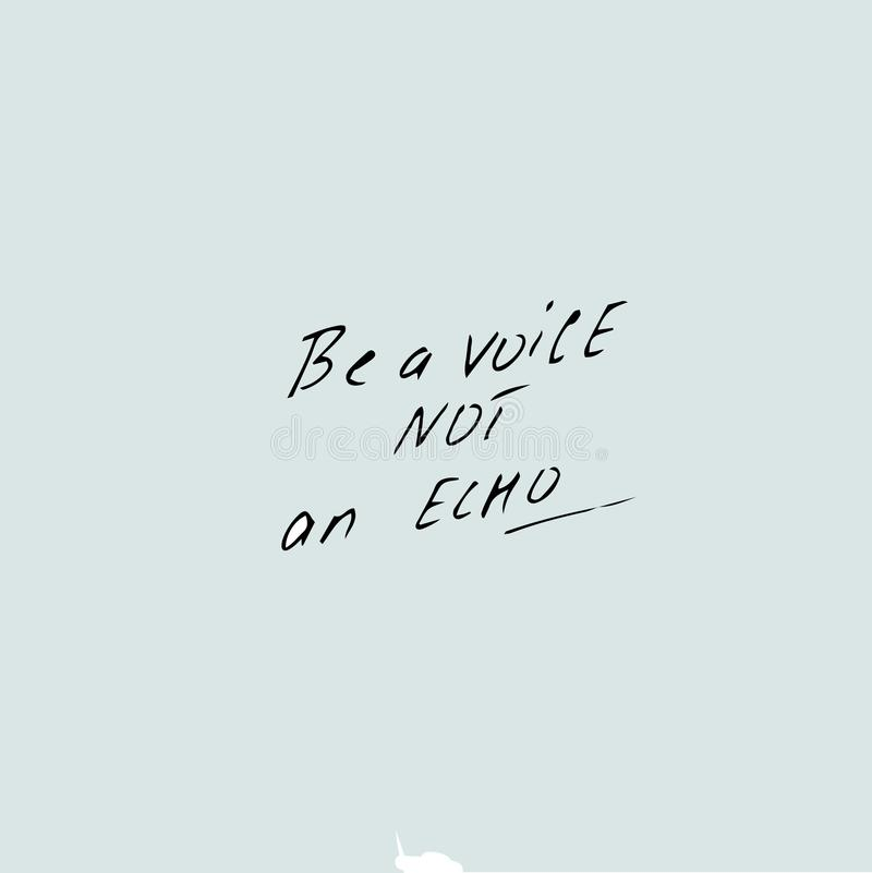 Sia una voce non un testo di eco royalty illustrazione gratis