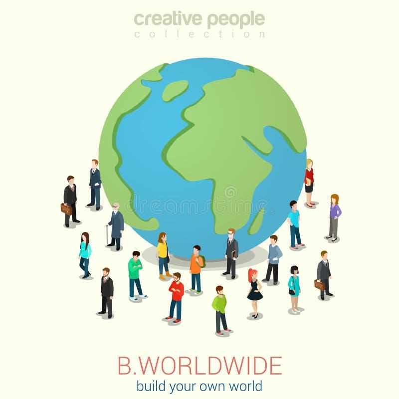 Sia universalmente concetto infographic isometrico di web piano 3d royalty illustrazione gratis