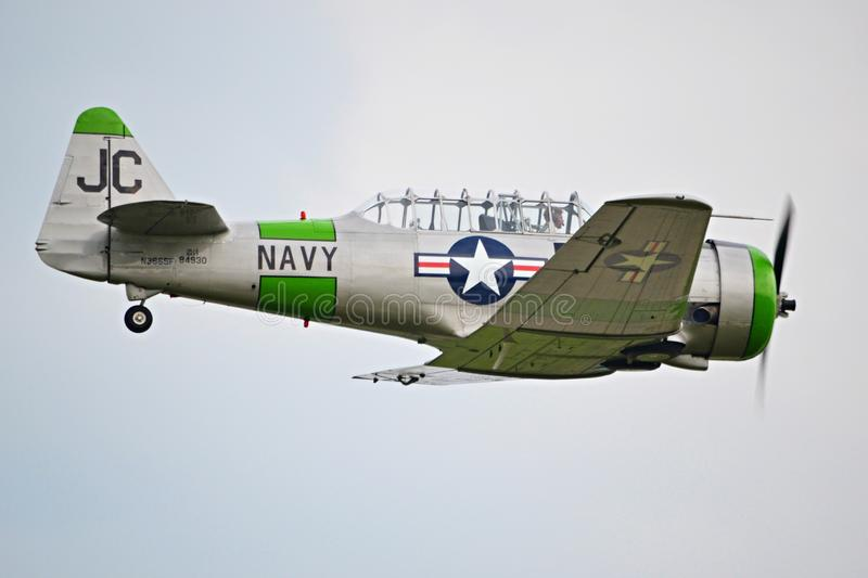 Airplane T-6 Texan stock photography