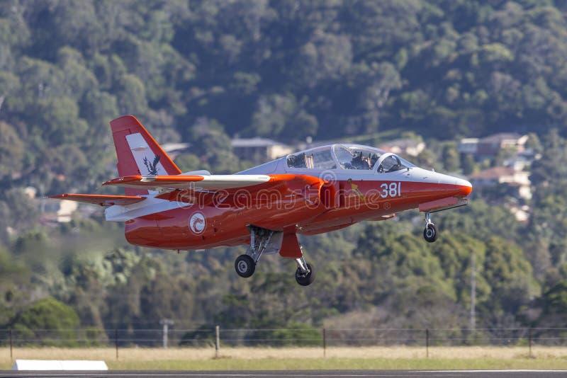 Siai Marchetti S 211 getto VH-DZJ nelle marcature della Repubblica dell'aeronautica di Singapore fotografia stock libera da diritti