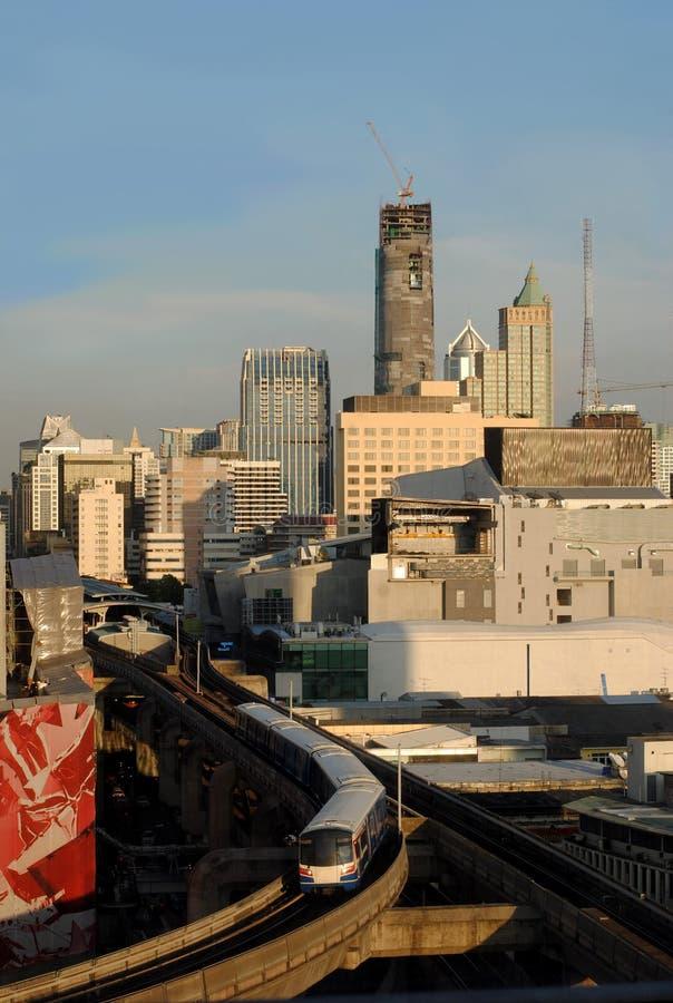 Siam District, populairste het winkelen van Bangkok gebied stock foto