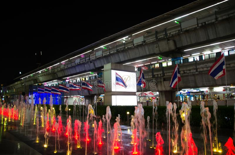 Siam Paragon is the building will be used as a primary decorative glass. Siam Paragon is all about big. One of Asia`s biggest malls, featuring a 15 theater royalty free stock photos