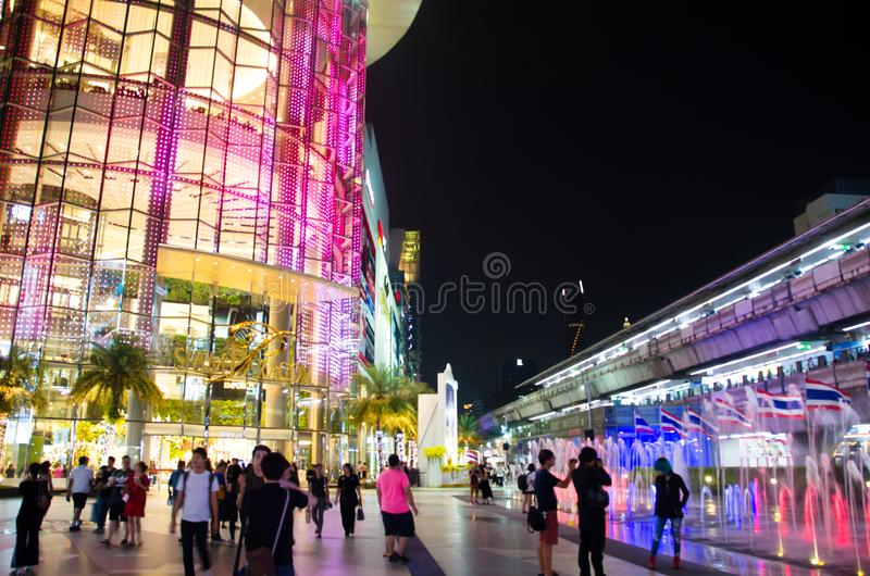 Siam Paragon is an 8-storey building and two underground floors of the building will use glass decor. royalty free stock photography