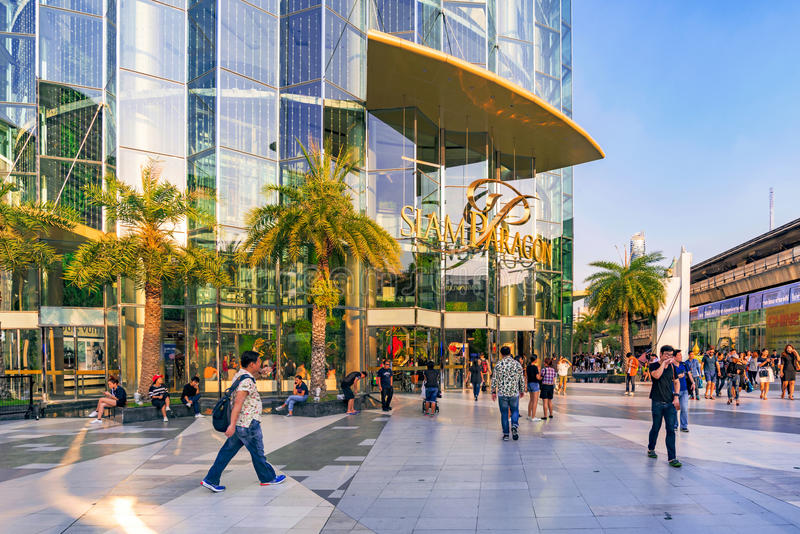 Download Siam Paragon Shopping Mall In Bangkok Editorial Stock Image - Image of entrance, commerce: 90284274