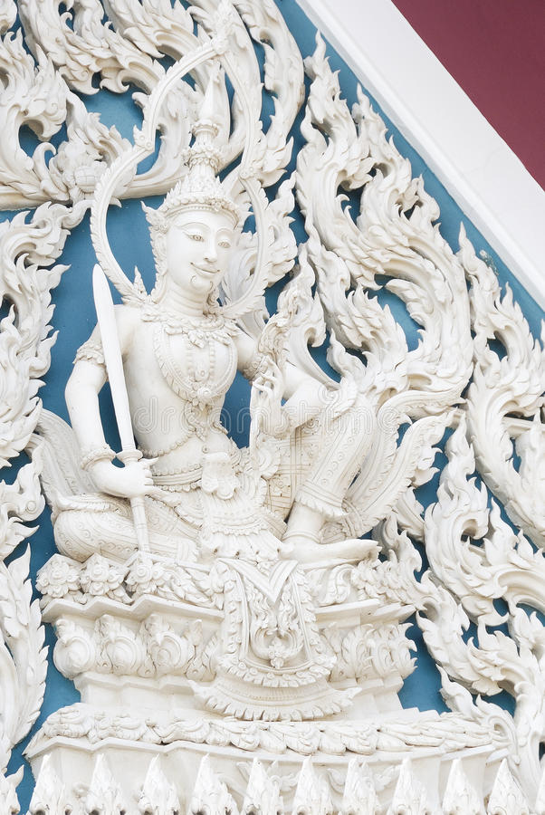 Download Siam Style White Angel In Temple Stock Photography - Image: 23028672