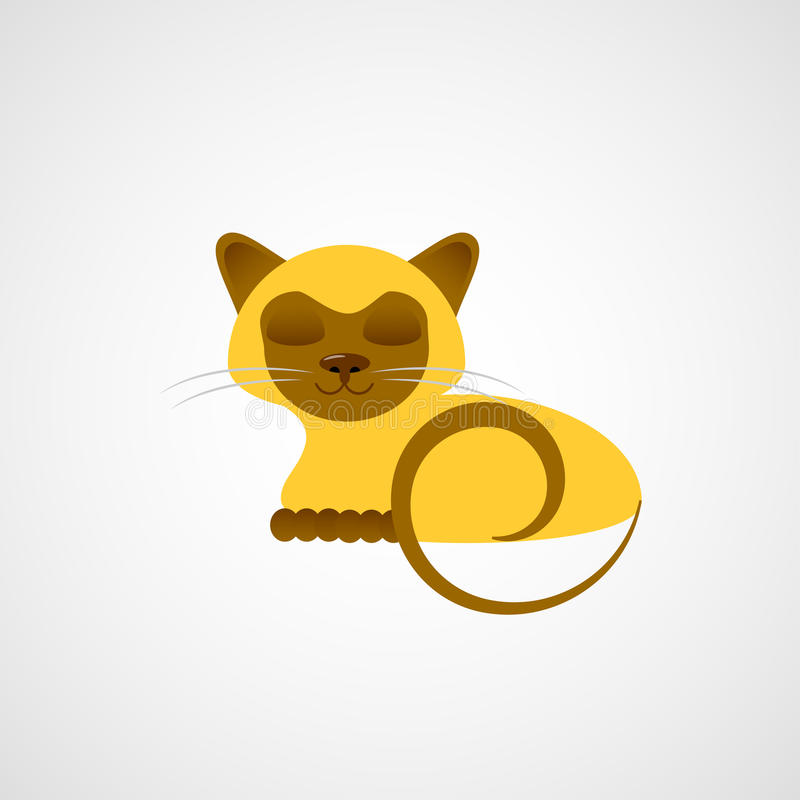 Download Siamese kitty stock vector. Image of vector, siamese - 24041827