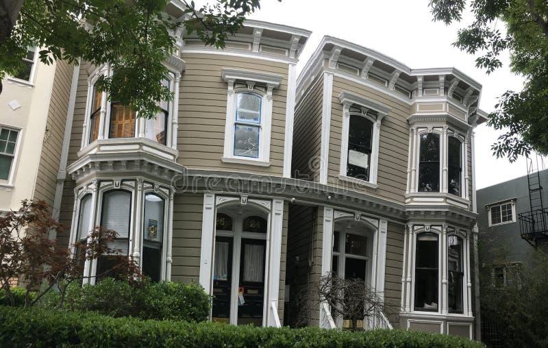 Siamese Tweelingenhuis, 20-26 Liberty Street royalty-vrije stock afbeelding