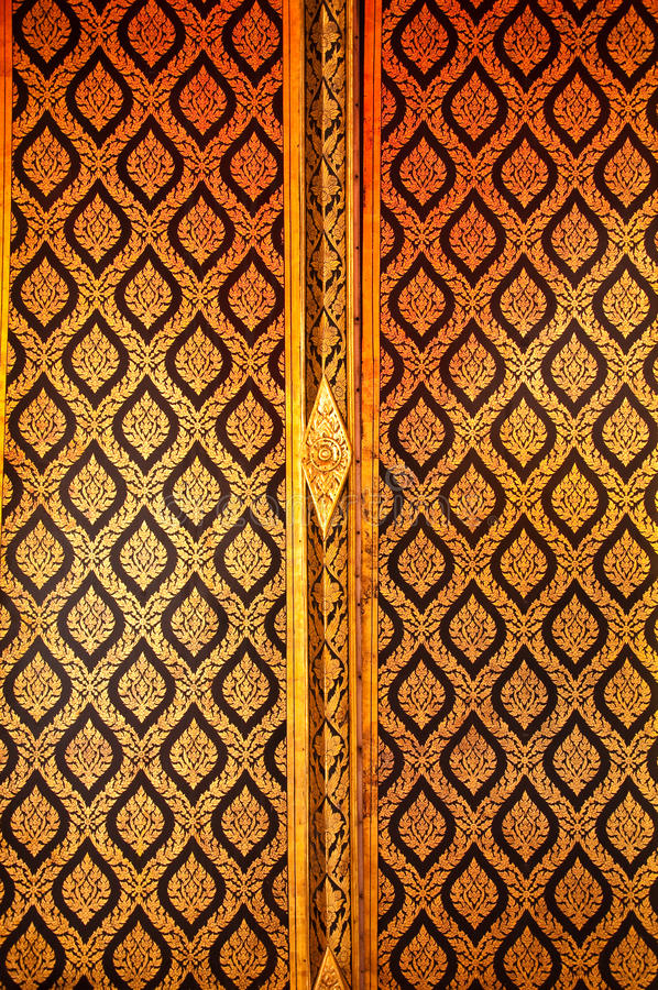 Siamesische Art-Tür lizenzfreies stockfoto