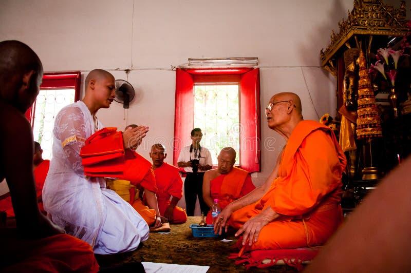 Siamesische buddhistische Klassifikationszeremonie lizenzfreies stockbild