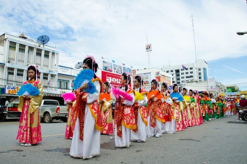 Download Siamesische Chinesische Mönchparade. Redaktionelles Foto - Bild von dame, buddhismus: 26352711