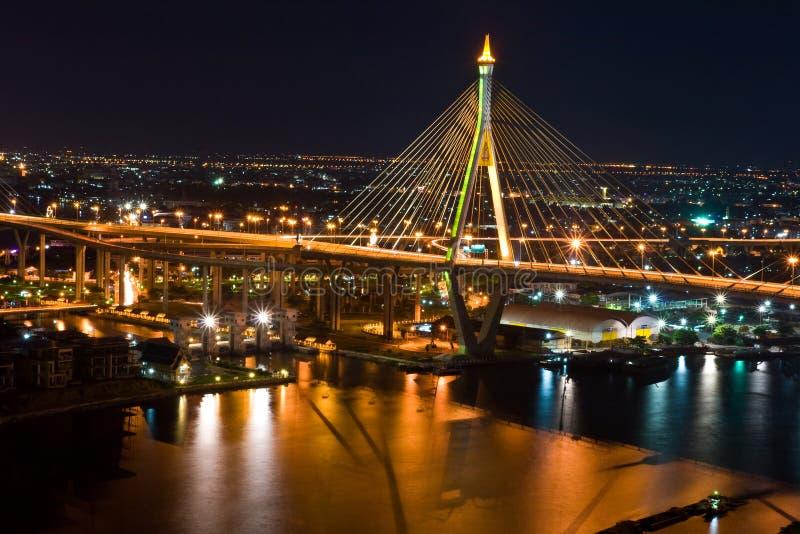 Siamesische großriemen-Brücke in Thailand. lizenzfreie stockfotos