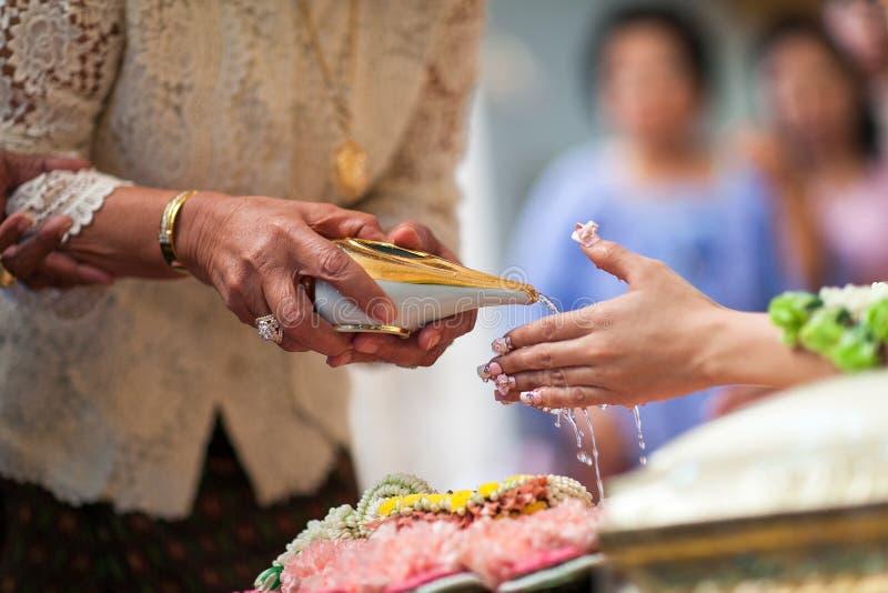 Siamesische Hochzeits-Zeremonie stockfotos