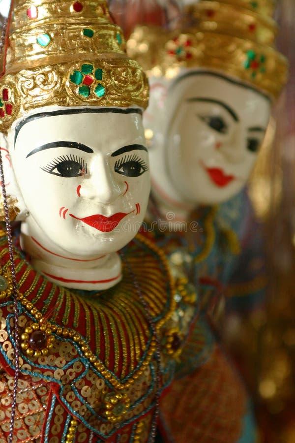 Siamesische Marionette stockfotografie