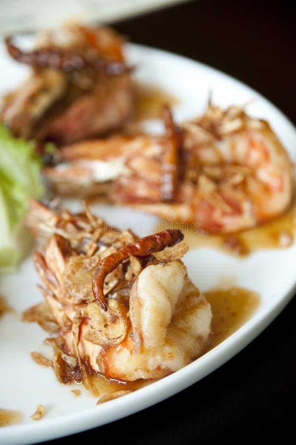Siamesische Nahrung der Garnele stockbild