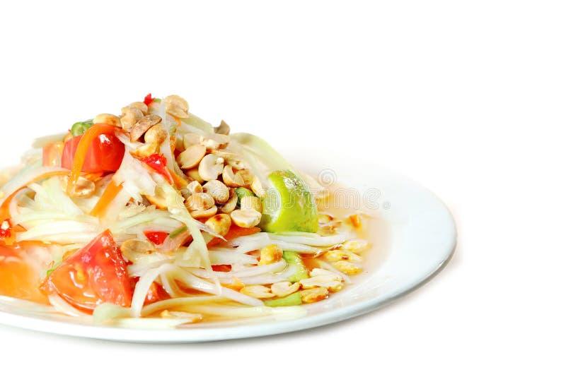 Siamesische Nahrung des Papayasalats lizenzfreie stockbilder