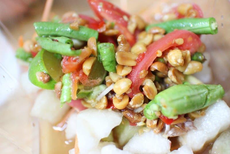 Siamesische Nahrung des Papayasalats stockbilder