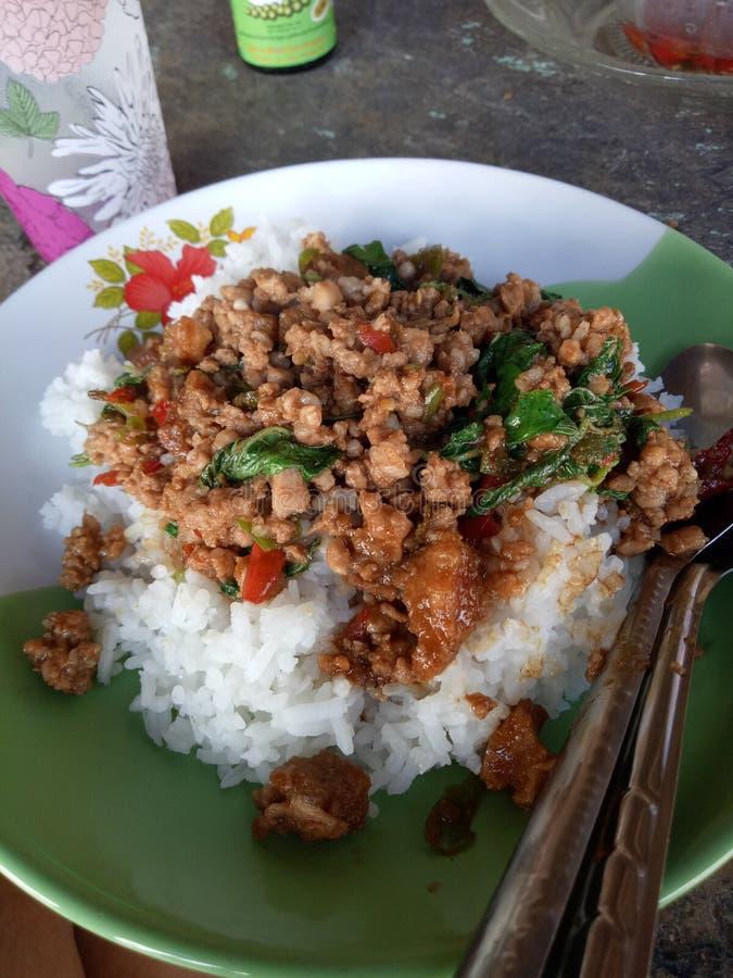 Siamesische Nahrung - Stirfischrogen #6 lizenzfreie stockfotografie