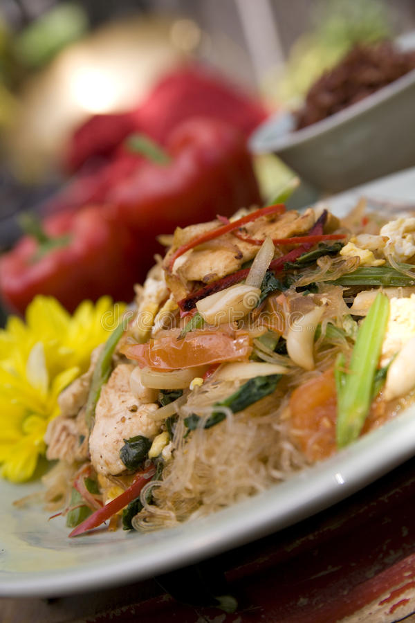 Siamesische Nahrungsmittelteller stockfoto