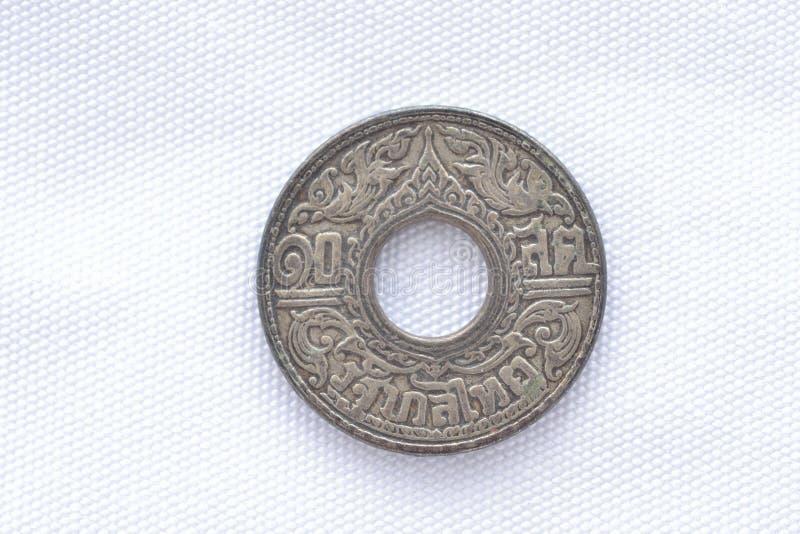 Siamesische seltene alte Münze stockbilder
