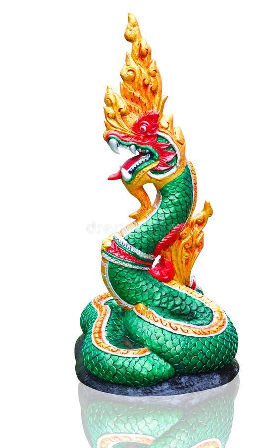 Siamesische Statue des Naga lizenzfreie stockfotos