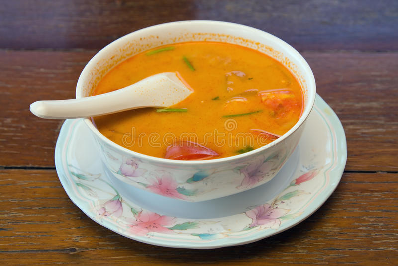 Siamesische Suppe stockbild