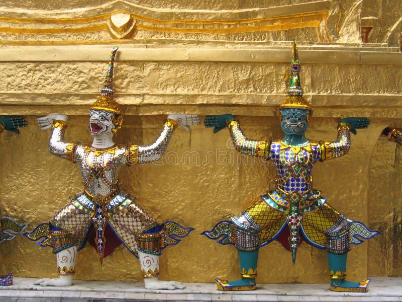 Siamesische Tempelwächter lizenzfreies stockfoto