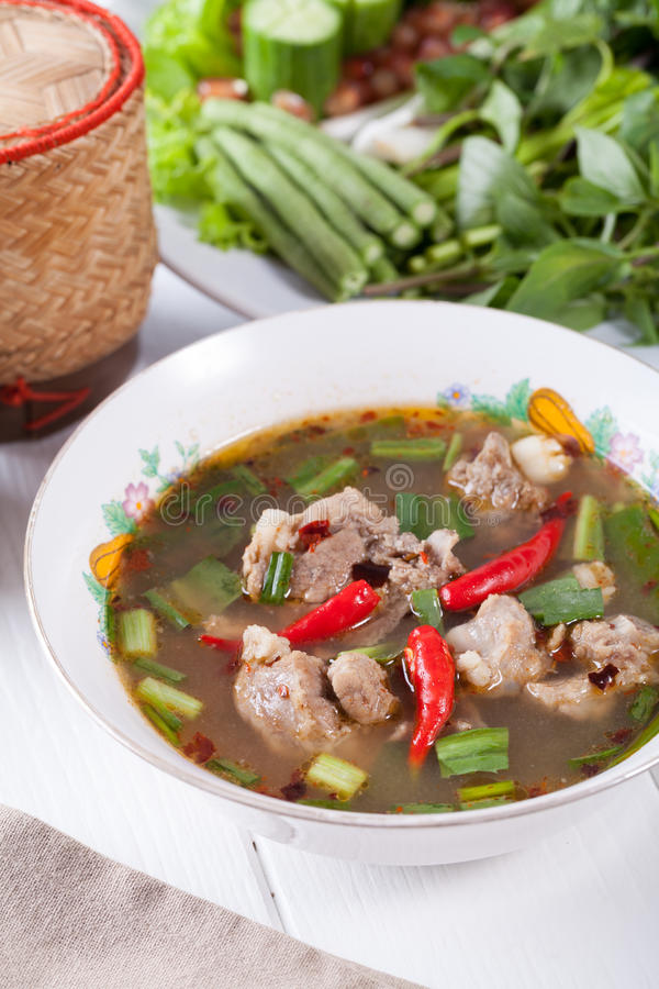 Siamesische würzige Suppe lizenzfreies stockfoto