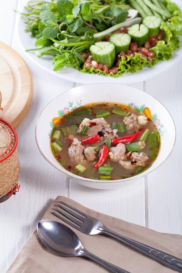 Siamesische würzige Suppe stockfotografie