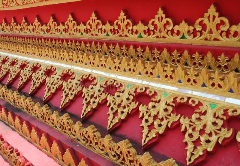 Siamesischer buddhistischer Hintergrund stockbilder