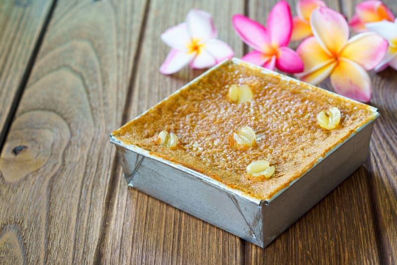 Siamesischer Nachtisch Mung Bean Thai Custard D stockfoto