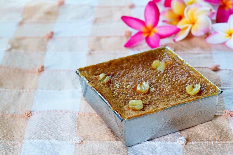 Siamesischer Nachtisch Mung Bean Thai Custard D lizenzfreies stockfoto