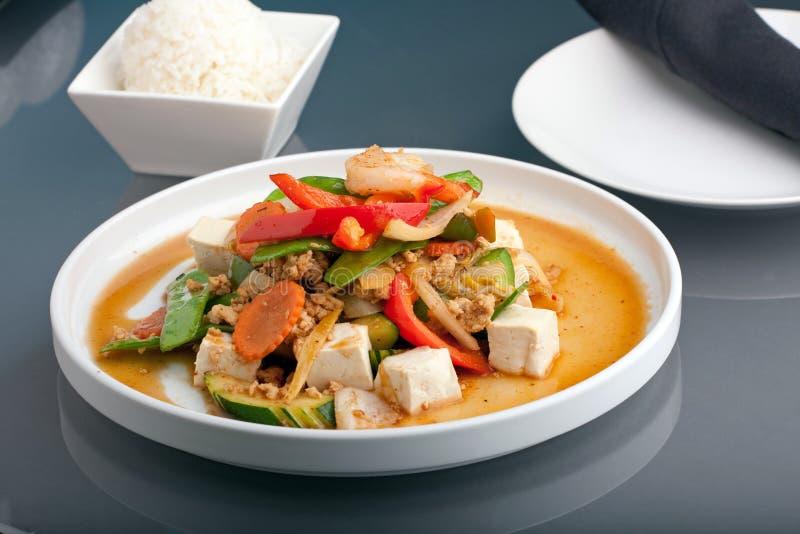 Siamesischer Tofu-Teller lizenzfreies stockfoto