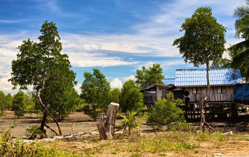 Siamesisches Dorf stockbild