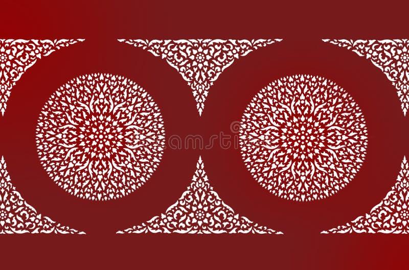 Download Siamesisches Kunstwandmuster Stockbild - Bild von muster, gewebe: 26370739