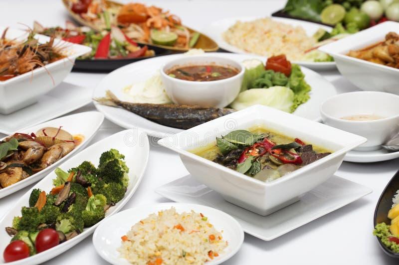 Siamesisches Nahrungsmittelset lizenzfreie stockbilder