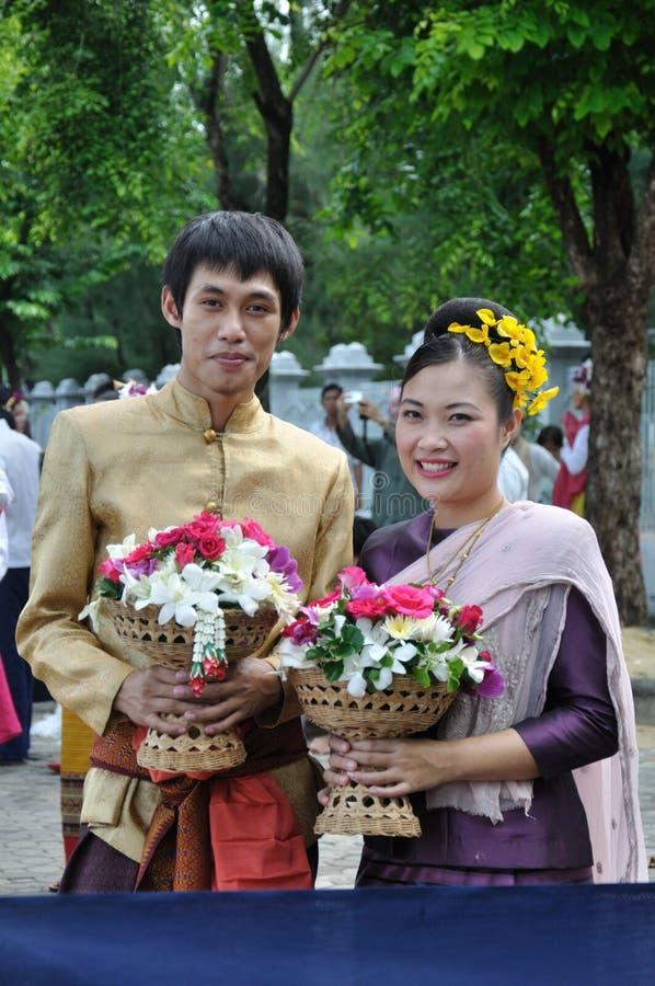 Siamesisches traditionelles Kleid stockfoto