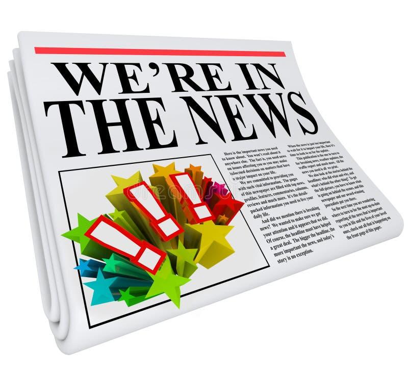 Siamo nell'articolo del titolo di giornale di notizie illustrazione di stock