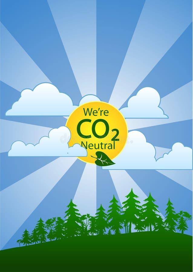 Siamo persona neutrale del carbonio (CO2) (ritratto) royalty illustrazione gratis