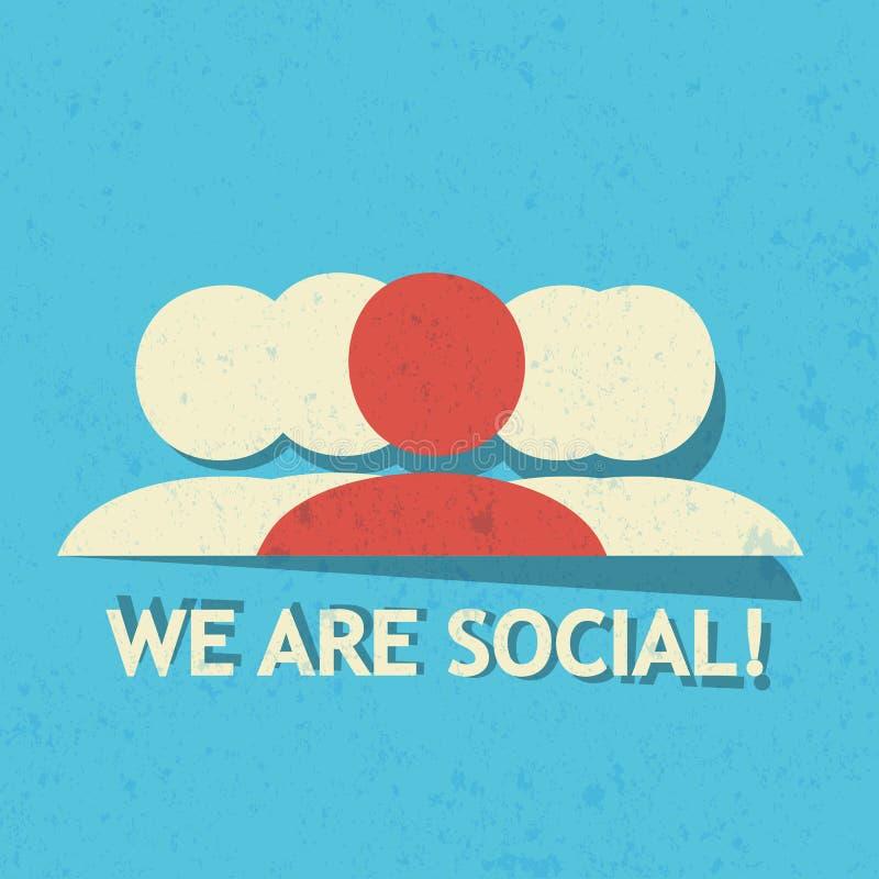 Siamo sociali! illustrazione di stock