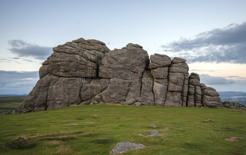 Siana Tor skały na Dartmoor w Devon, Anglia fotografia royalty free
