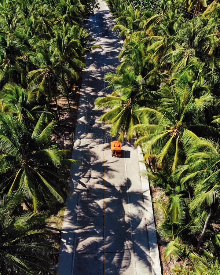 Siargao Island from Above - The Philippines stock image