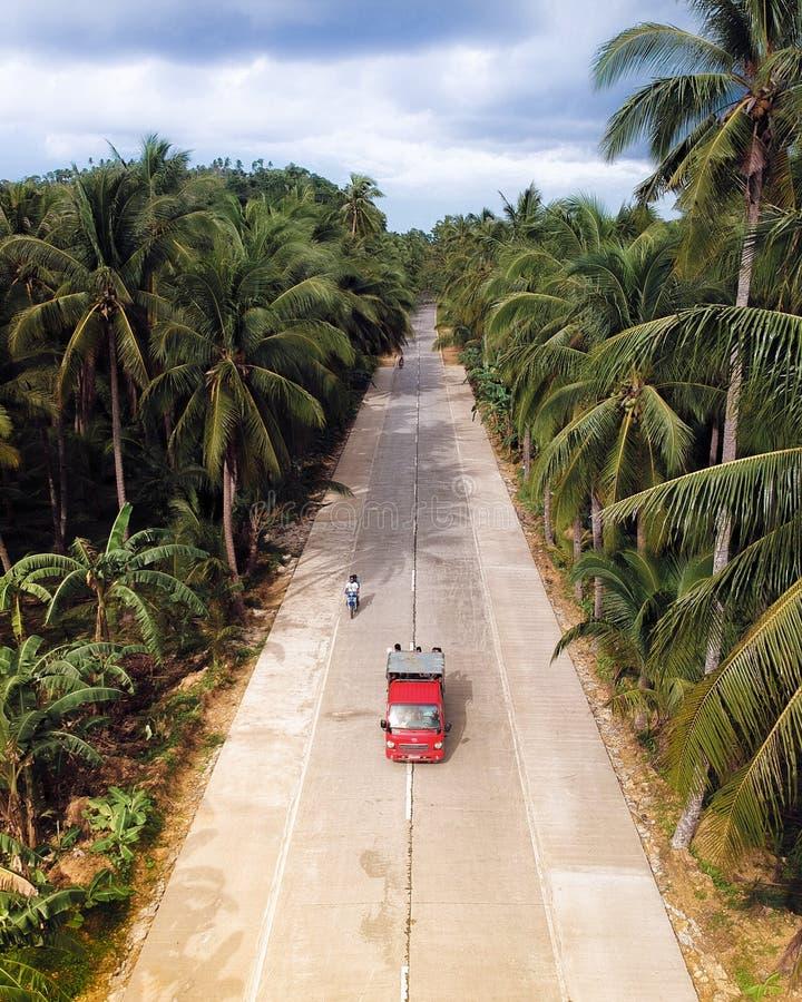 Siargao wyspa z góry - Filipiny obrazy royalty free