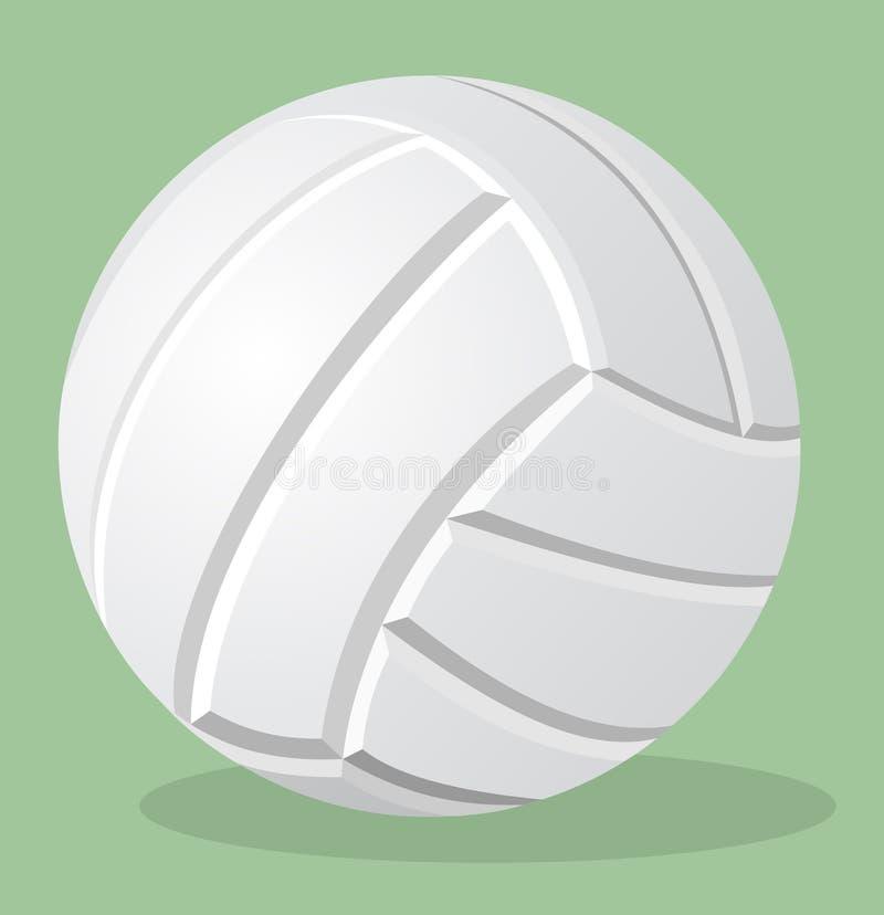 Siatkówka, biała piłka, wektorowa realistyczna ilustracja ilustracji