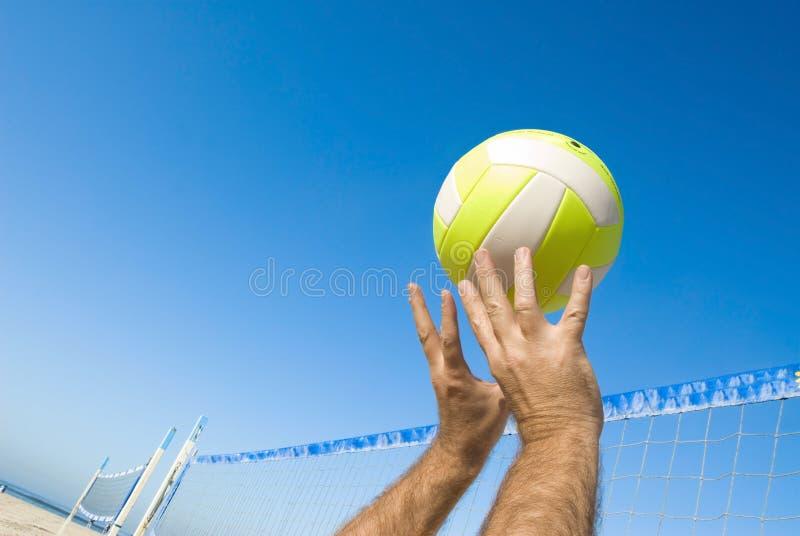 siatkówka gracza zdjęcie stock