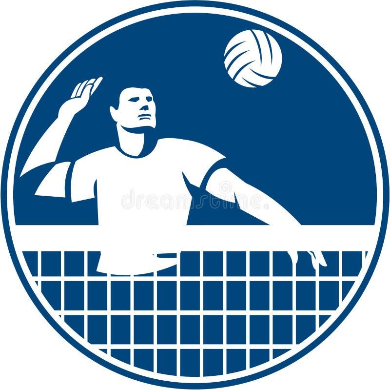 Siatkówka gracza gwożdżenia okręgu Balowa ikona royalty ilustracja