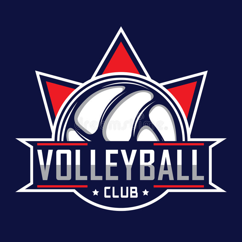 Siatkówka logo, Ameryka logo ilustracji