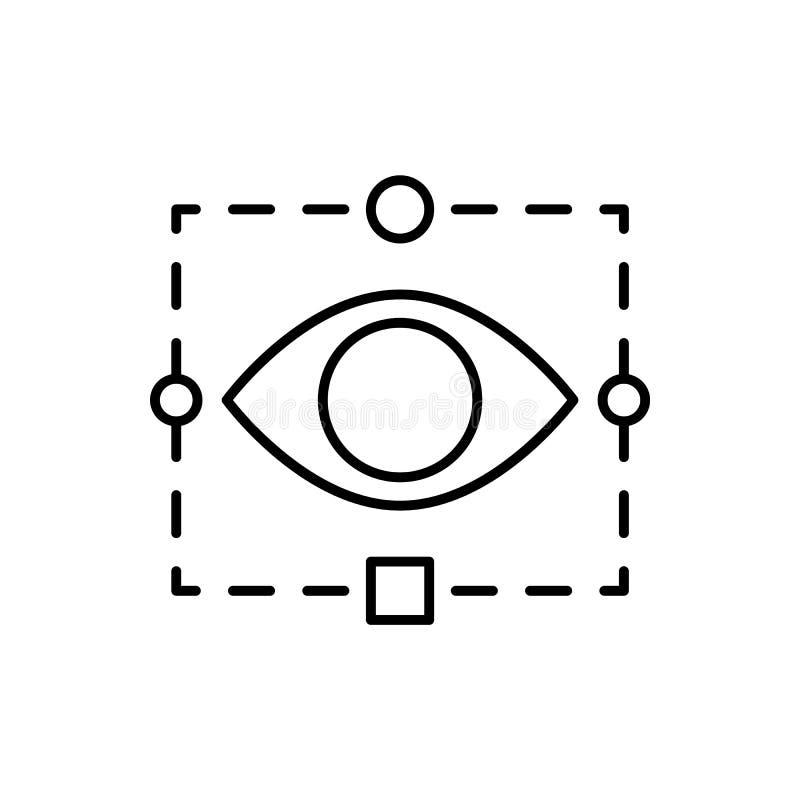 Siatkówka, technika, oko ikona - wektor sztuczna inteligencja ilustracji