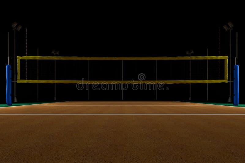 Siatkówki arena przy nocą royalty ilustracja