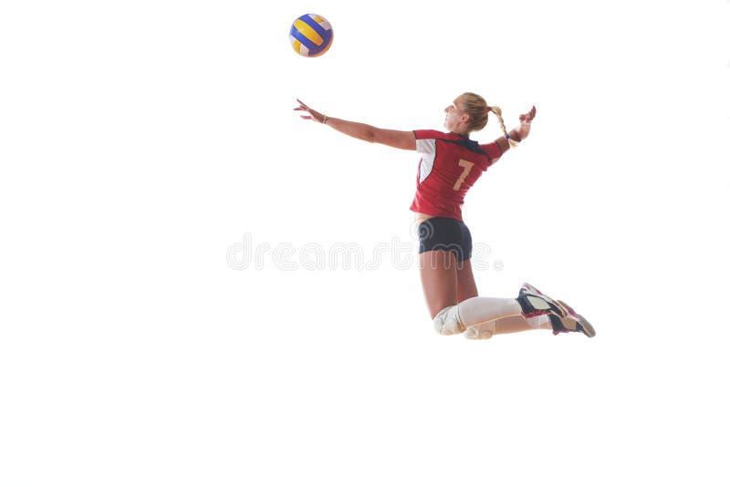 Siatkówki kobieta skacze zdjęcie stock